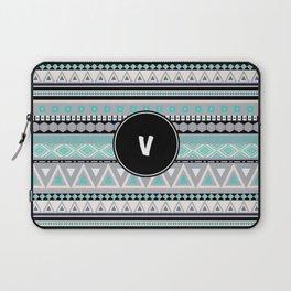 Monogram Tribal Pattern *V* Laptop Sleeve