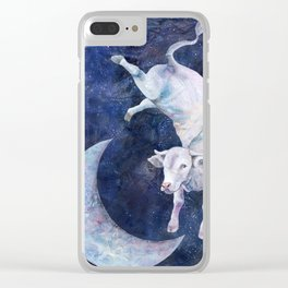 The Cow Jumped Over The Moon - II Clear iPhone Case