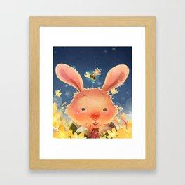 The Whispering Rabbit Framed Art Print
