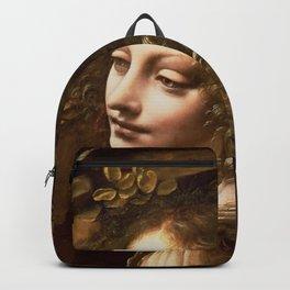 "Leonardo da Vinci Angel in ""The Virgin of the Rocks (London)"" Backpack"