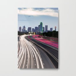 Spaghetti Skyline - Dallas Texas Metal Print