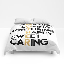 DEAR MOTHER Mothers Day quote Comforters