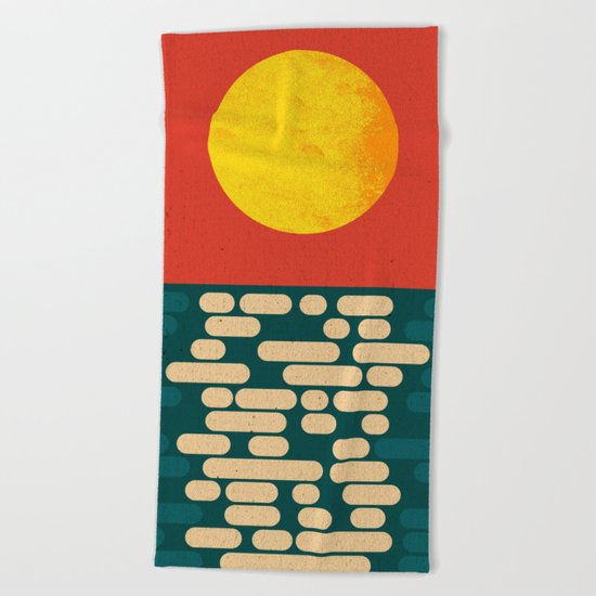 Sun Over The Sea - Afternoon Beach Towel
