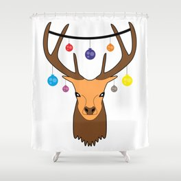Merry christmas Reindeer #society6 #decor #buyart #artprint Shower Curtain