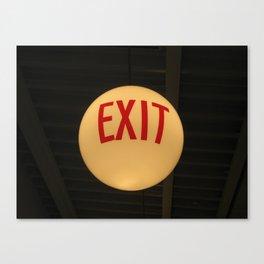 Exit (Helsinki 2009) Canvas Print
