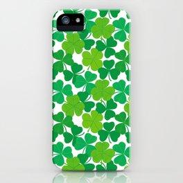 Shamrock Pattern iPhone Case