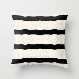 Paper Page Ripped Scan Lines Throw Pillow