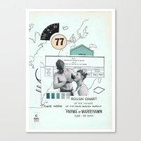 charlie Canvas Prints featuring Charlie —•—• by Aprile Elcich