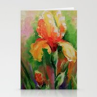iris Stationery Cards featuring Iris by OLHADARCHUK
