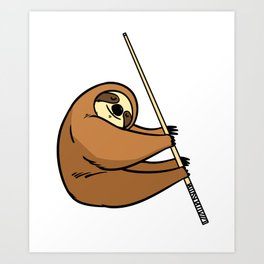 Billiard Cue Game Sport Funny Humor Gift Art Print