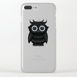 Black Owl Clear iPhone Case