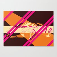 lamborghini Canvas Prints featuring Lamborghini Abstract by AEComics