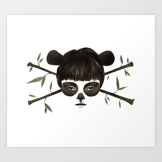 Pirate Panda Art Print