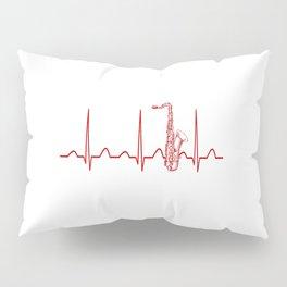 SAXOPHONE HEARTBEAT Pillow Sham