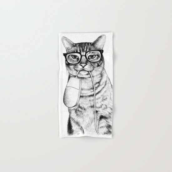 Mac Cat Hand & Bath Towel
