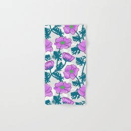 Flowers pink on white background. Hand & Bath Towel