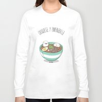 ramen Long Sleeve T-shirts featuring Ramen by AnaOncina