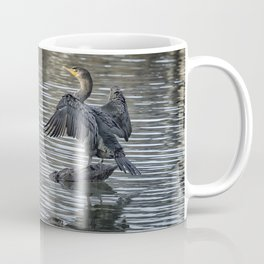 Double-Crested Cormorant Landscape Coffee Mug