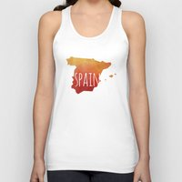 spain Tank Tops featuring Spain by Stephanie Wittenburg