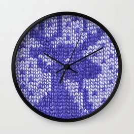 Knitting On Paper Wall Clock