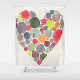 Happy heart Shower Curtain