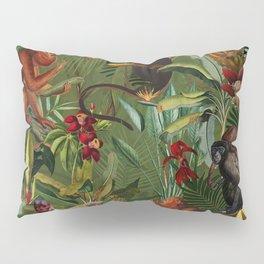Vintage & Shabby Chic - Green Monkey Banana Jungle Pillow Sham