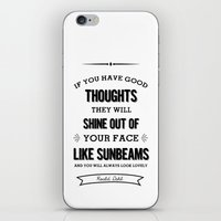 roald dahl iPhone & iPod Skins featuring Roald Dahl quote  by Dickens ink.