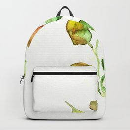 Golden autumn leaves painting Backpack