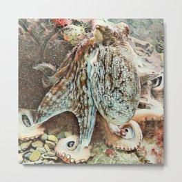 Toony Octopus Metal Print
