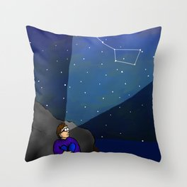 AR Glasses Star Constellations Throw Pillow