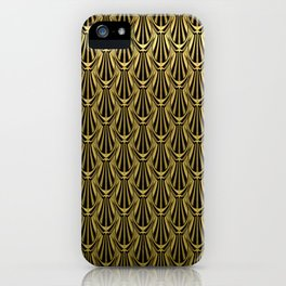 Overlapping Shell Pattern in Gold iPhone Case