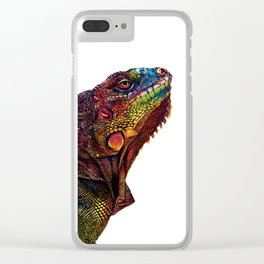 Iguana Watercolor Painting By Windy Shih Clear iPhone Case