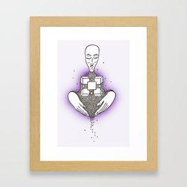Shape Lady Framed Art Print
