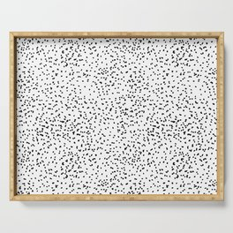 Black and white dots Serving Tray
