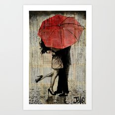 the red umbrella Art Print