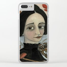 """""""Fall of the Dead Leaves"""", Four Seasons Portait Clear iPhone Case"""