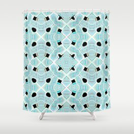 Neon Tile Pattern Shower Curtain
