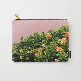 California Flowers on Pink Carry-All Pouch