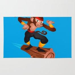 Monkey Ninja flying Rug