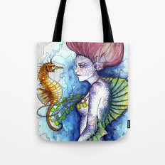 the seahorse's friend Tote Bag