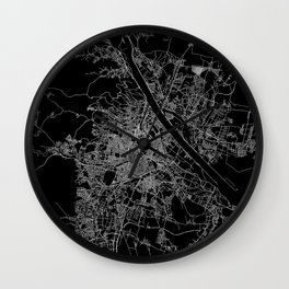 Vienna map Wall Clock