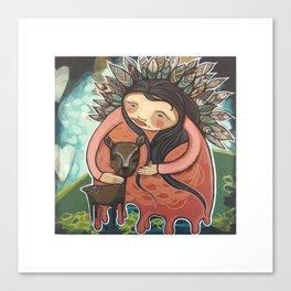 Dear Mother Deer Mother Canvas Print