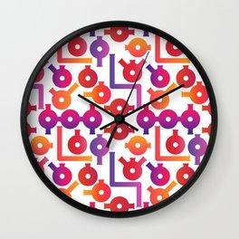 Chemistry Glass simple pattern #2 Wall Clock