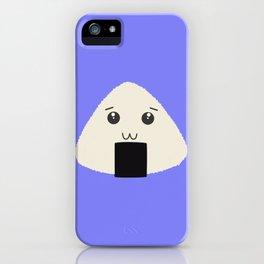 kawaii onigiri rice face iPhone Case