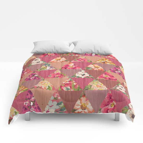 GEOMETRIC MODERN FLOWERS Comforters