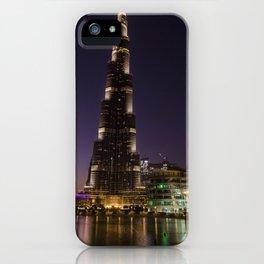 Burj khalifa at night iPhone Case