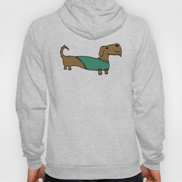 Daschund with sweater Hoody