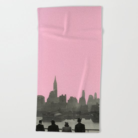 New York Nights Beach Towel