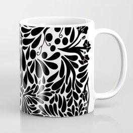 Abstract Jungle in Black and White Coffee Mug