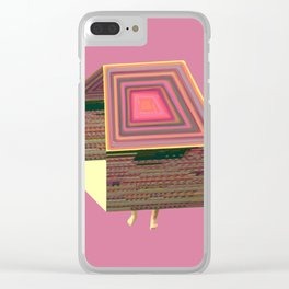 Pink Virtual House Clear iPhone Case